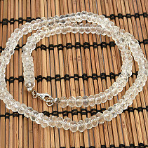 Crystal cut necklace 6mm 45cm