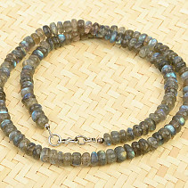 Labradorite necklace button 47cm