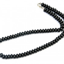 Onyx button necklace 46cm Ag fastening
