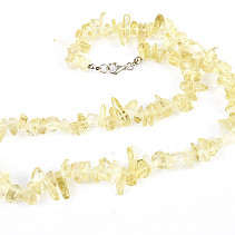 Necklace lemonquartz troml 45cm