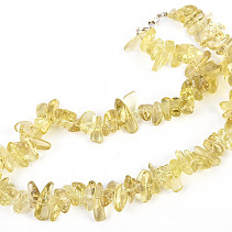 Lemonquartz tumbled necklace 45cm