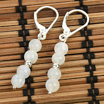 Moonstone earrings with 5mm Ag hooks