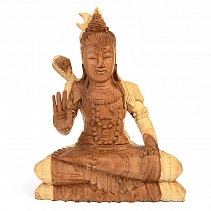 Wooden carving of the god Shiva
