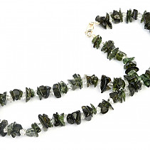 Moldavite and crystal herkimer necklace 46cm 43.8g