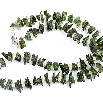 Moldavite and crystal herkimer necklace 52cm Ag fastening