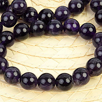 Amethyst Ball Bracelet 12mm