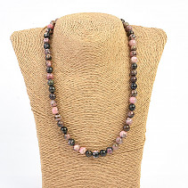 Rodonit necklace round 8mm 48cm