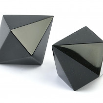 Obsidian black platonic body - dodecahedron