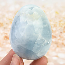 Smooth eggs - blue calcite 198g