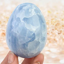 Smooth eggs - blue calcite 393g