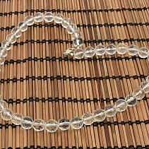 Crystal necklace beads cut 10mm 46cm