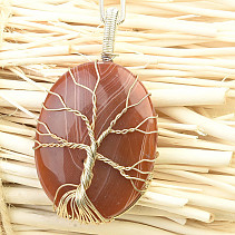Pendant tree of life agate bizu oval (20g)