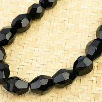 Onyx necklace cut oval 52cm