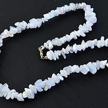 Chalcedony Necklace larger stones 45 cm
