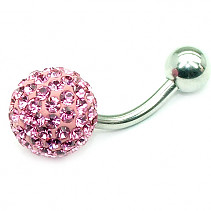 OPNG154 navel piercing pink ball