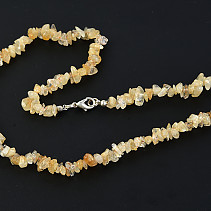 Citrine necklace extra large stones 45 cm