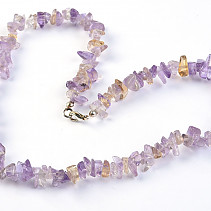 Ametrine Necklace larger stones 45 cm