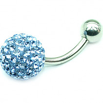 OPNG155 belly button piercing blue ball