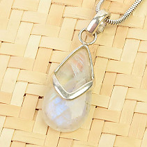 Pendant moonstone drop decorated with Ag 925/1000 2.8g