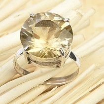 Citrine ring cut size 55 Ag 925/1000 3.8g
