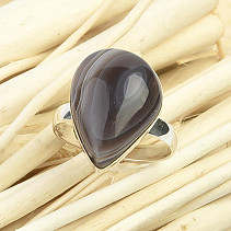 Agate smooth ring size 52 Ag 925/1000 3,7g
