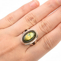 Labradorite ring oval Ag 925/1000 10.3g size 52