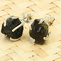 Earrings natural tourmaline Ag 925/1000 2,2g
