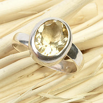 Cut citrine ring size 57-60 (expandable) Ag 925/1000 6.2g