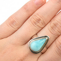Ring with larimar size 54 Ag 925/1000 7.9g