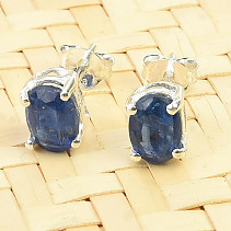 Oval earrings kyanite disten Ag 925/1000 1.3g