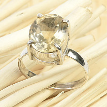 Cut citrine ring size 53 Ag 925/1000 2.6g