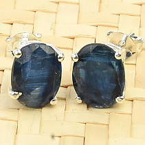 Cut earrings kyanite disten Ag 925/1000 2.2g