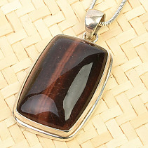 Bull's eye pendant rectangle Ag 925/1000 13.7g