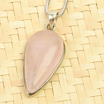 Rosewood smooth pendant Ag 925/1000 7.0g