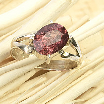 Tourmaline ring Ag 925/1000 size 57 - 4g