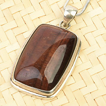 Bull's eye pendant rectangle Ag 925/1000 12.9g