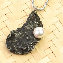 Meteorite with pearl pendant weir handle 4.5g