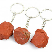 Red raw jasper keychain