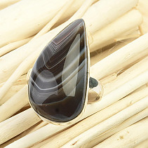 Agate ring Ag 925/1000 5,6g (size 52)
