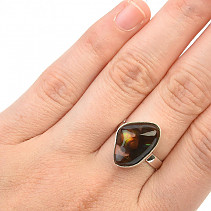 Fire agate ring size 52 Ag 925/1000 3,8g