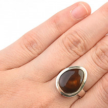 Fiery agate ring size 52 Ag 925/1000 5.9g
