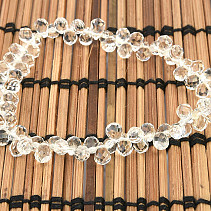 Extra crystal bracelet droplet cut 9mm