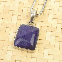 Charoite smooth pendant Ag 925/1000 3.9g