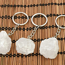 Raw crystal keychain