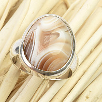Agate ring Ag 925/1000 8.9g size 56