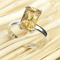 Cut citrine ring size 58 Ag 925/1000 3g