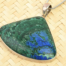 Azuromalachite pendant drop large Ag 925/1000 22.0g