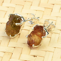 Earrings natural tourmaline Ag 925/1000 2,1g