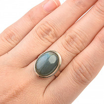 Labradorite oval ring Ag 925/1000 6,1g size 52