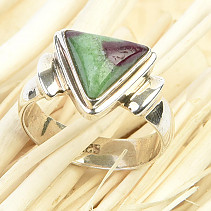 Ruby ring in zoisite Ag 925/1000 6.0g size 56